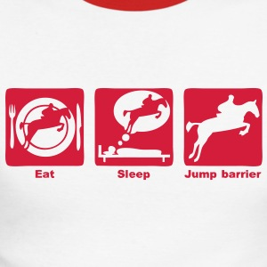 jump barrier2 saut obstacle eat sleep play Tee shirts manches longues - T-shirt baseball manches longues Homme