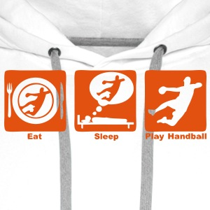 handball eat sleep play2 Sweat-shirts - Sweat-shirt à capuche Premium pour hommes