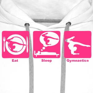 gymnastics gymnastique eat sleep play Sweat-shirts - Sweat-shirt à capuche Premium pour hommes
