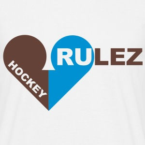 Hockey rulez 2-colours T-shirts - Mannen T-shirt