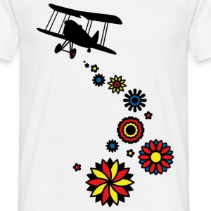 It's raining flowers! (PNG) T-Shirt - Men's T-Shirt