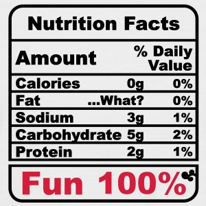 'Nutritional Facts' Men's Short sleeve Baseball Shirt - Men's Baseball T-Shirt
