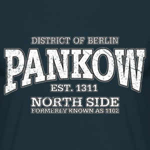 Berlin Pankow (white oldstyle) - Männer T-Shirt