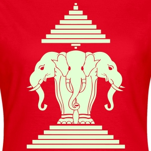 Silver Erawan Lao / Laos Flag / Glow in the Dark - Women's T-Shirt