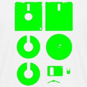 3 1⁄2-inch Floppy Disk Deconstructed - Men's T-Shirt
