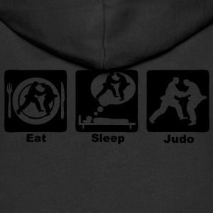 judo eat sleep play Sweats Enfants - Veste à capuche Premium Enfant