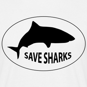 save sharks - Männer T-Shirt