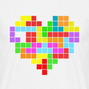 Men's Classic T-Shirt tetris love - Men's T-Shirt