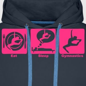 gymnastique grs eat sleep play3 Sweat-shirts - Sweat-shirt à capuche Premium pour hommes