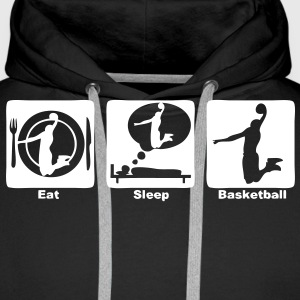 basketball eat sleep play3 Sweat-shirts - Sweat-shirt à capuche Premium pour hommes