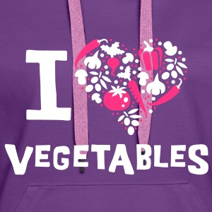 I love vegetables Pullover - Frauen Premium Hoodie
