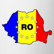 Motiv ~ Kaffepott mit Rumänien-Karte RO-EU