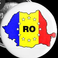 Motiv ~ Button mit Rumänien-Karte RO-EU