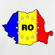 Motiv ~ Zweifarbiges Männer- Shirt mit Rumänien-Karte RO-EU