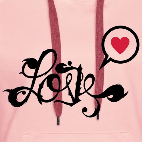 Love écriture ornement style ancien romantique