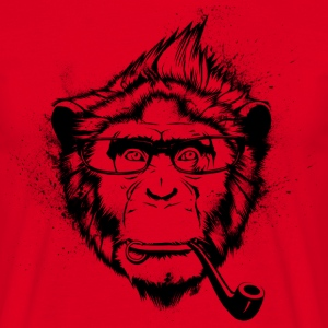 Ironic Chimp Shirt - Men's T-Shirt