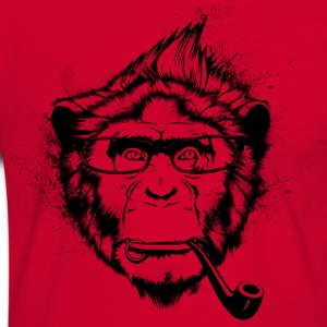 Ironic Chimp Shirt - Men's Ringer Shirt