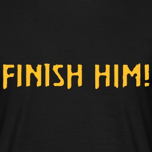 Mortal Kombat FINISH HIM! (SNES Console Version) - Men's T-Shirt