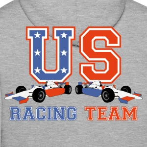 racing car us 2 Sweat-shirts - Sweat-shirt à capuche Premium pour hommes