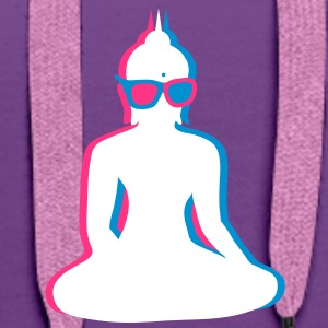 3D Buddha  with 3D glasses Hoodies & Sweatshirts - Women's Premium Hoodie