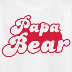 PAPA bear cute family group   Kids' Shirts