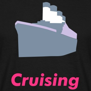 Crusing Silver metallic liner on black t shirt - Men's T-Shirt