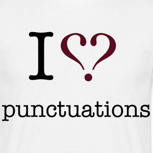 love_punctuation T-Shirts - Men's T-Shirt