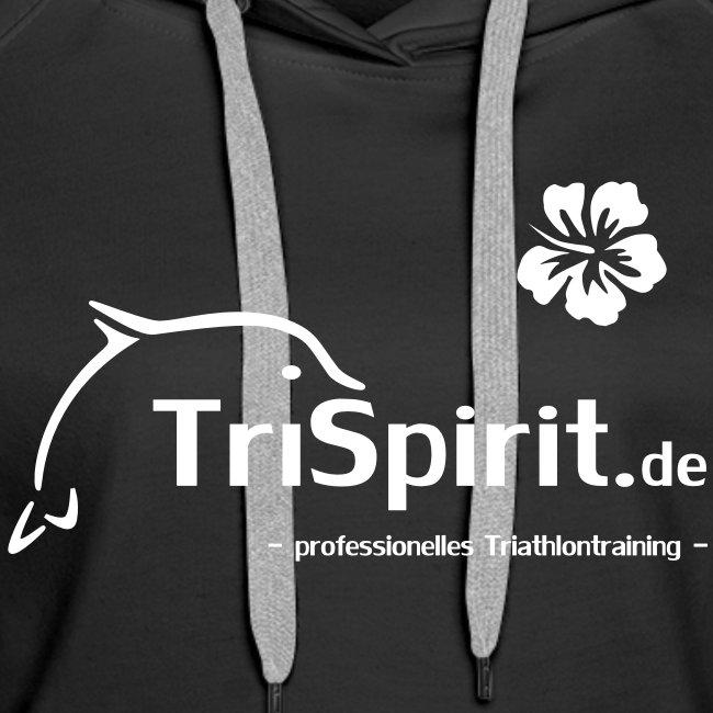 Cordula Kapuzenpulli weisses Logo mit Slogan