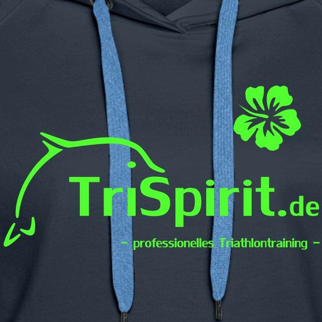 Cordula Kapuzenpulli grünes Logo mit Slogan