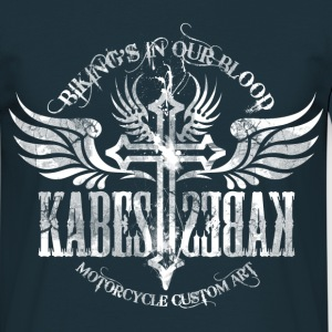 Kabes Grunge Motorcycle Art - Men's T-Shirt