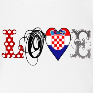 Love Croatia Black - Baby Bio-Kurzarm-Body