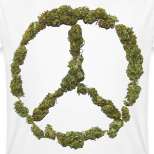 Weed and Worldpeace - Männer Bio-T-Shirt
