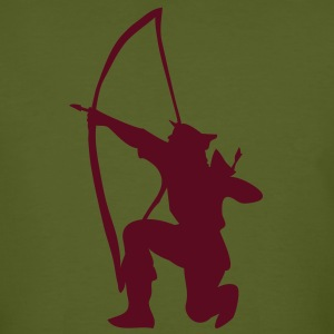 archer longbow kneeling stance by patjila T-Shirts - Men's Organic T-shirt
