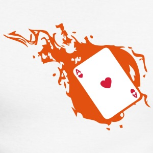 carte poker card as flamme coeur1 Tee shirts manches longues - T-shirt baseball manches longues Homme