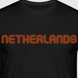 netherlands 70er Schrift Lounge  T-shirts - Mannen T-shirt