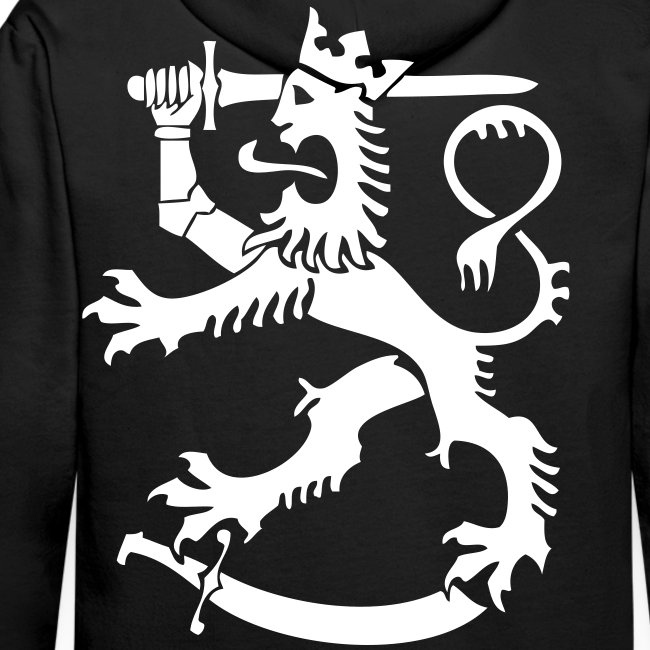 Suomileijona huppari (musta)