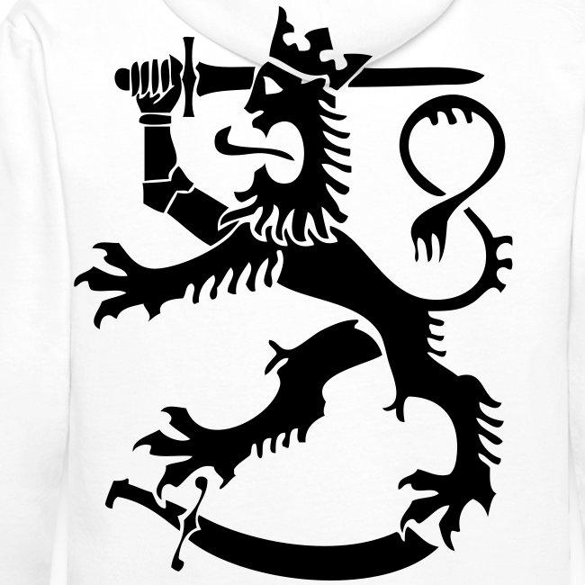 Suomileijona huppari (valkoinen)