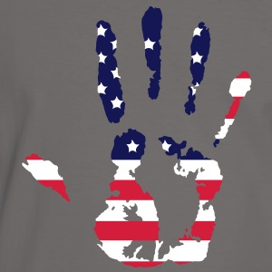 handprint with American flag T-Shirts - Men's Ringer Shirt