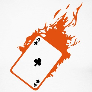 carte poker card as flamme trefle2 Tee shirts manches longues - T-shirt baseball manches longues Homme