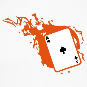 carte poker card as flamme pique1 Tee shirts manches longues - T-shirt baseball manches longues Homme