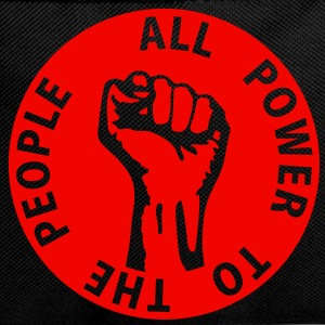 1 colors - all power to the people - against capitalism working class war revolution Bags  - Backpack