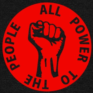 1 colors - all power to the people - against capitalism working class war revolution Felpe - Felpa con scollo a barca da donna, marca Bella