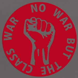 1 color - no war but the class war - against capitalism working class war revolution Camisetas - Camiseta contraste mujer