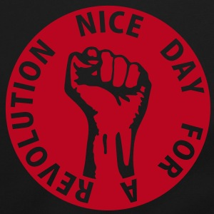 1 color - nice day for a revolution - against capitalism working class war revolution Bags  - Shoulder Bag