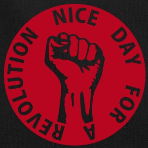 1 color - nice day for a revolution - against capitalism working class war revolution Bags  - Retro Bag