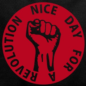 1 color - nice day for a revolution - against capitalism working class war revolution Tasker - Rygsæk