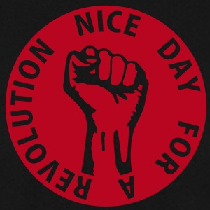 1 color - nice day for a revolution - against capitalism working class war revolution Felpe - Felpa da uomo