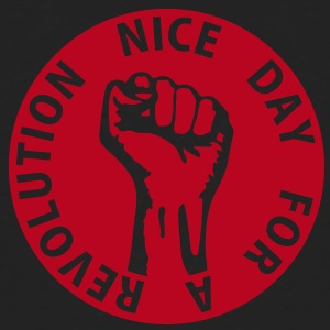 1 color - nice day for a revolution - against capitalism working class war revolution T-shirt - T-shirt ecologica da uomo