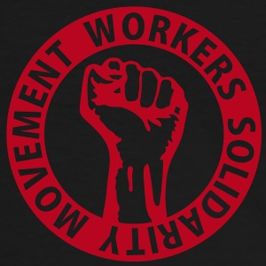 1 colors - Workers Solidarity Movement - Working Class Unity Against Capitalism T-shirts - Mannen contrastshirt
