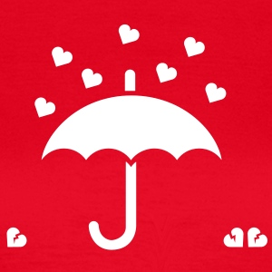 It's raining hearts solo T-shirts - Vrouwen T-shirt